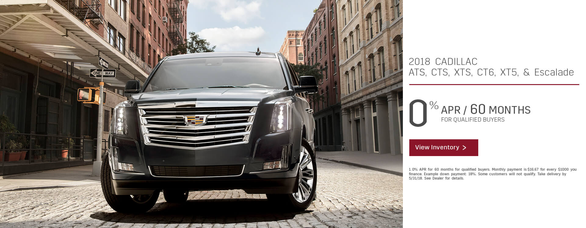 Finance 2018 Cadillacs 0% for 60 mos