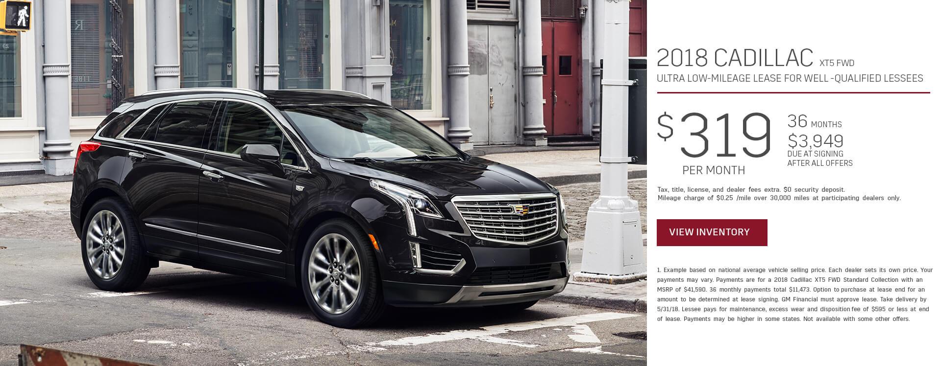 Cadillac XT5 $299 Lease