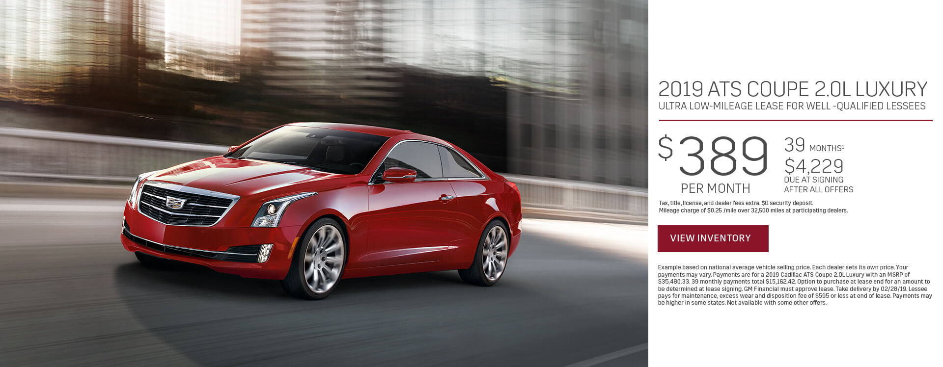 ATS Coupe Lease