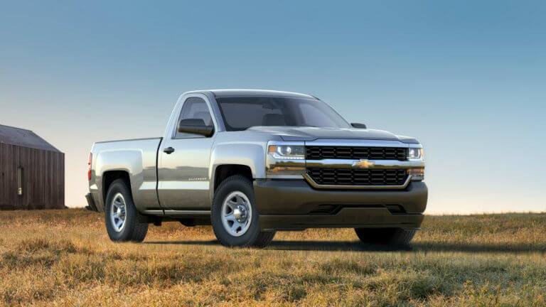 2017 Chevy Silverado in Silver Ice Metallic
