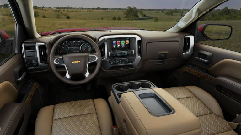 2017 Chevy Silverado with Cocoa/Dune with Cloth Seat Trim