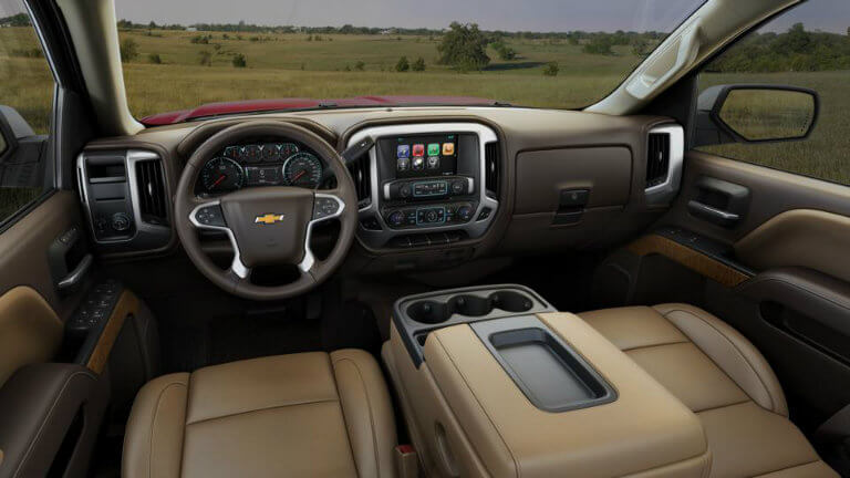 2017 Chevy Silverado with Cocoa/Dune with Leather Appointed Seat Trim