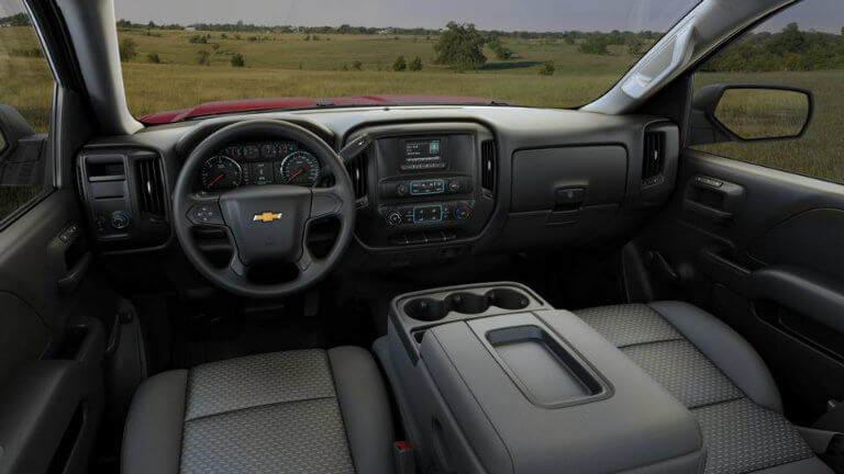 2017 Chevy Silverado with Dark Ash/Jet Black with Cloth Seat Trim