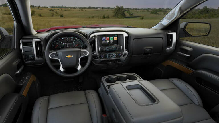 2017 Chevy Silverado with Dark Ash/Jet Black with Leather Appointed Seat Trim