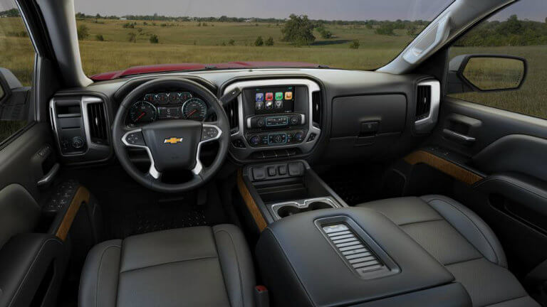 2017 Chevy Silverado with Dark Ash/Jet Black with Perforated Leather Appointed Seat Trim