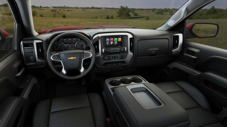 2017 Chevy Silverado with Jet Black with Cloth Seat Trim