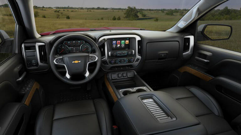2017 Chevy Silverado with Jet Black with Perforated Leather Appointed Seat Trim