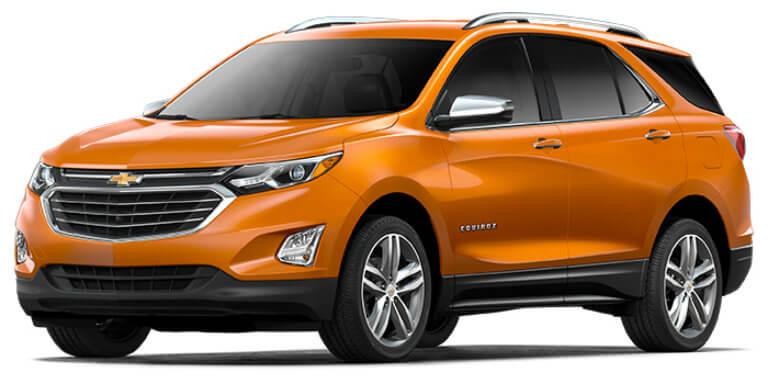 2018 Chevy Equinox in Orange Burst Metallic