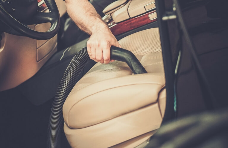 Vacuuming your car's seats