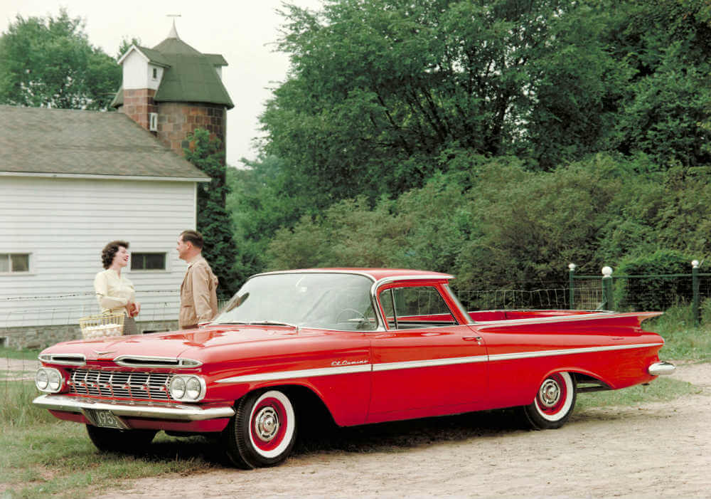 1959 Chevy El Camino perfect date car in the late 50s