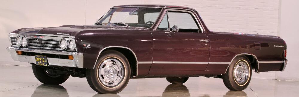 Black 1967 Chevy El Camino SS formal shot