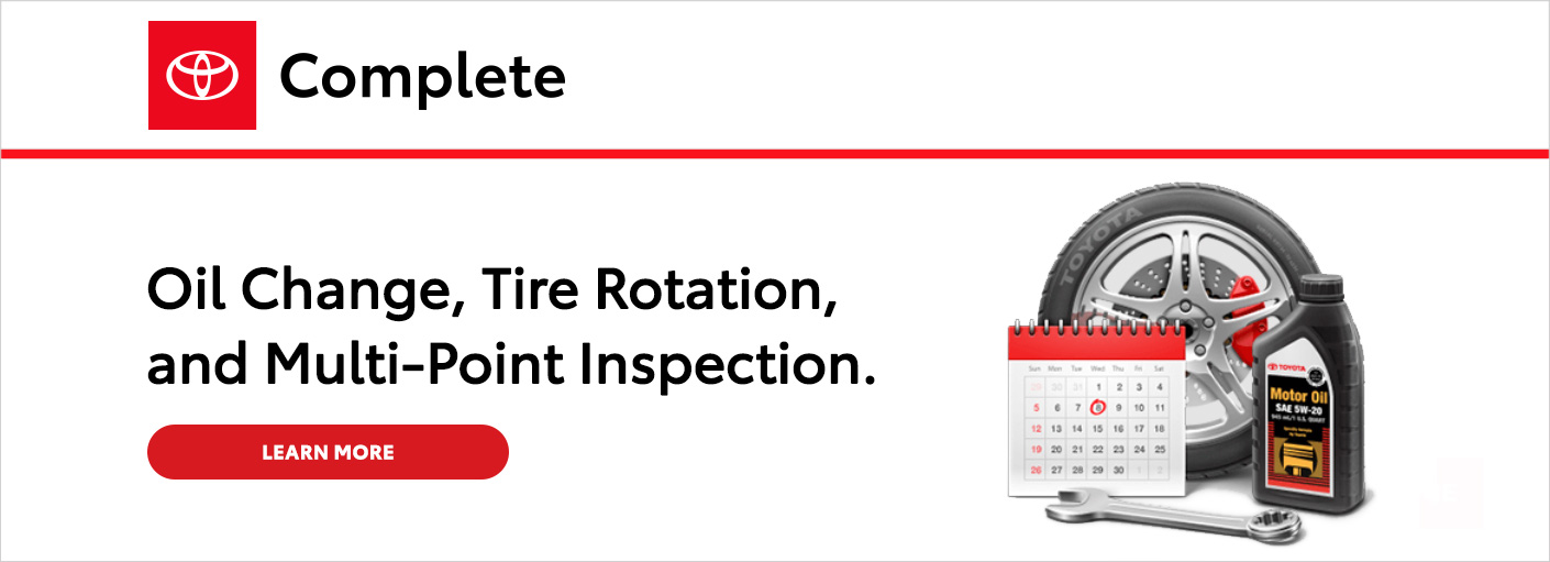 Schedule Service for Oil Change, Tire Rotation, and/or Multi-point Inspection