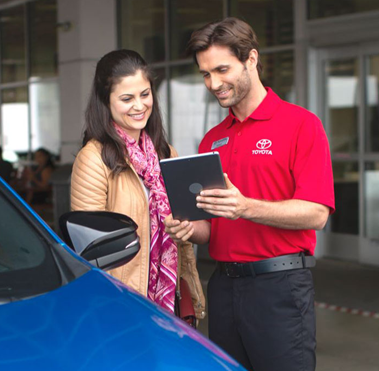 Toyota service care talking