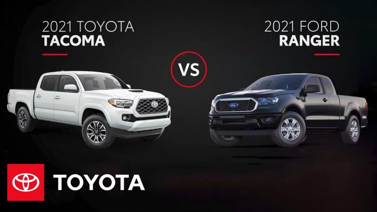 2021 Toyota Tacoma vs. 2021 Ford Ranger