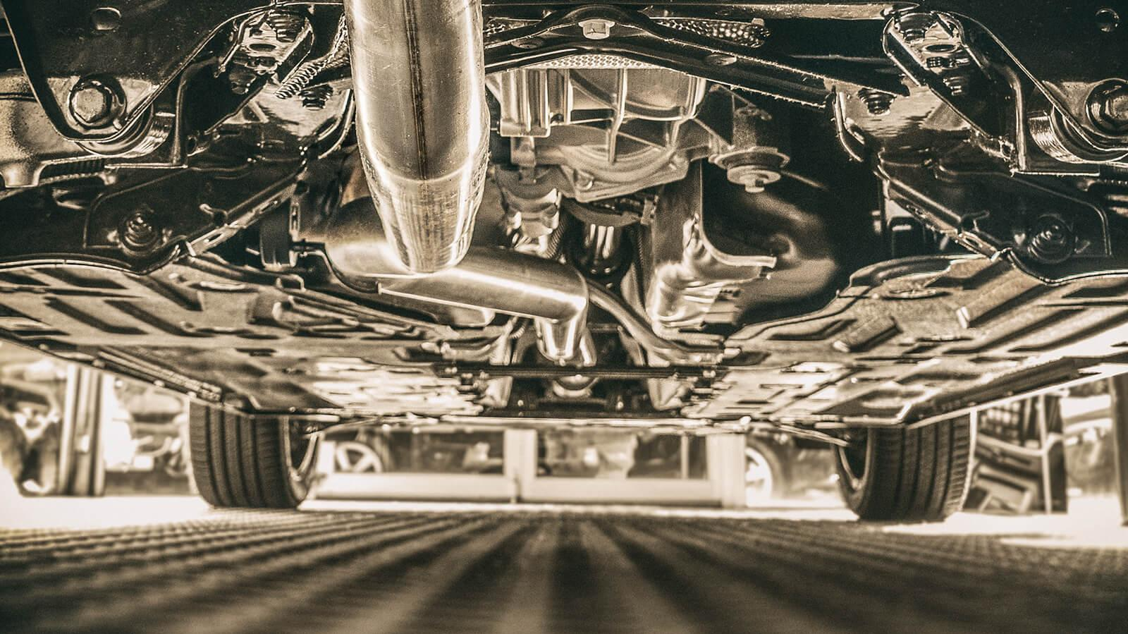Under carriage of a car
