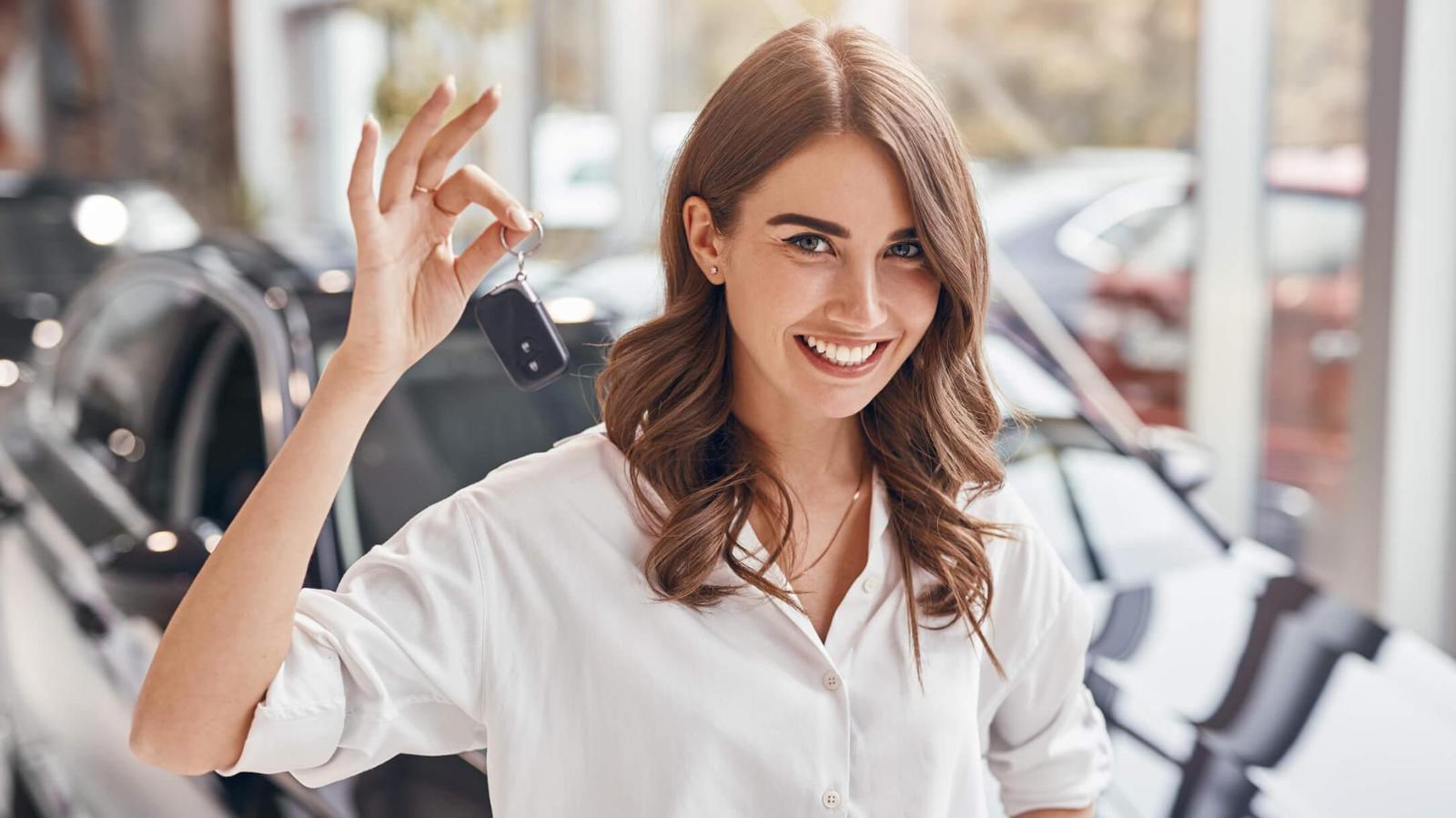 Happy Customer holding key