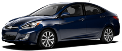 Hyundai Accent in Blue Diamond
