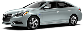 Hyundai Sonata Plug-In in Mountain Pass