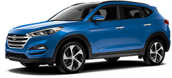 Hyundai Tucson in Blue Diamond