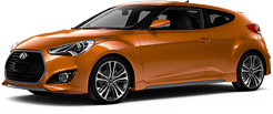 Hyundai Veloster in Mountain Pass