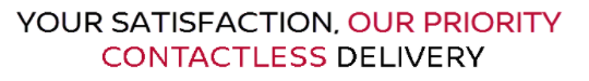 Your satistfaction, our priority contactless delivery