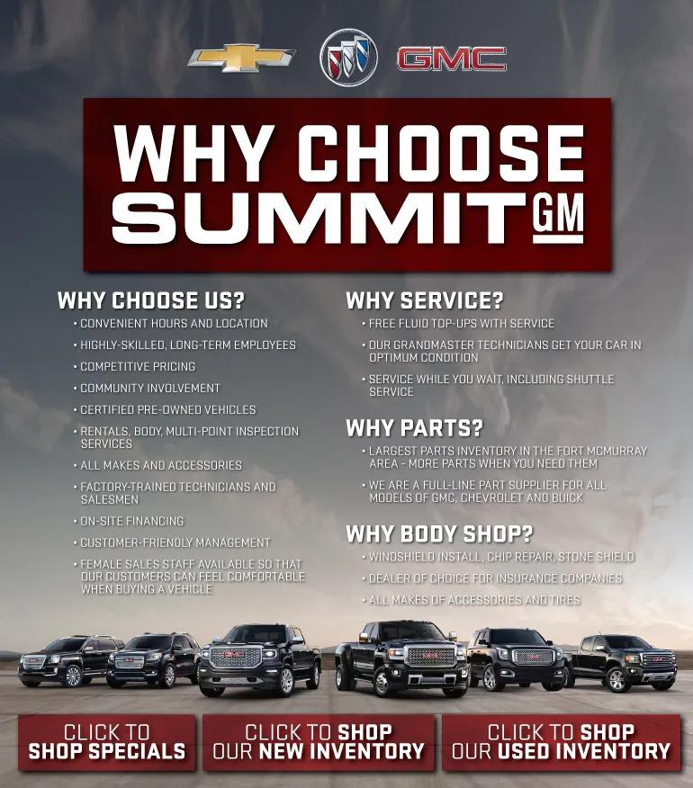 Why Choose Summit GM