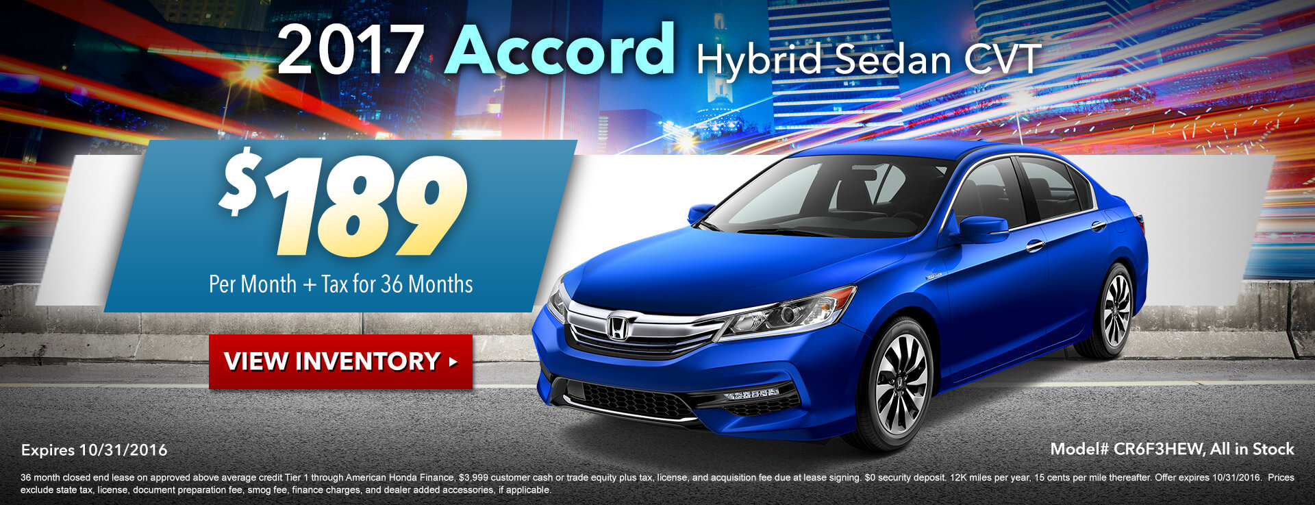 Accord Hybrid Lease HP