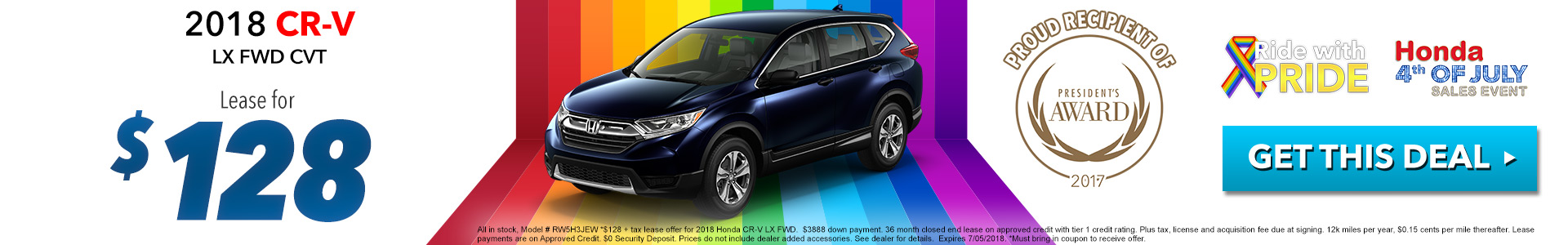 Honda CR-V $128 Lease