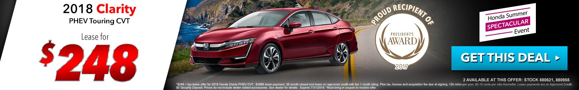 Honda Clarity $248 Lease