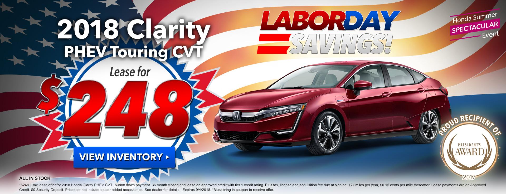 Honda Clarity 248 Lease