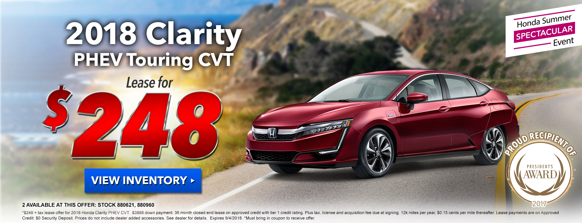 Honda Clarity $248 Lease