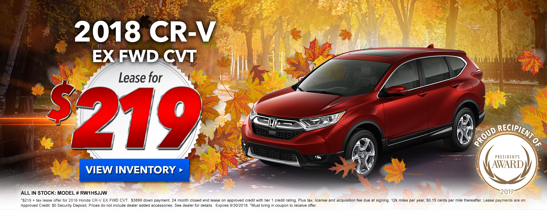 Honda CR-V $219 Lease