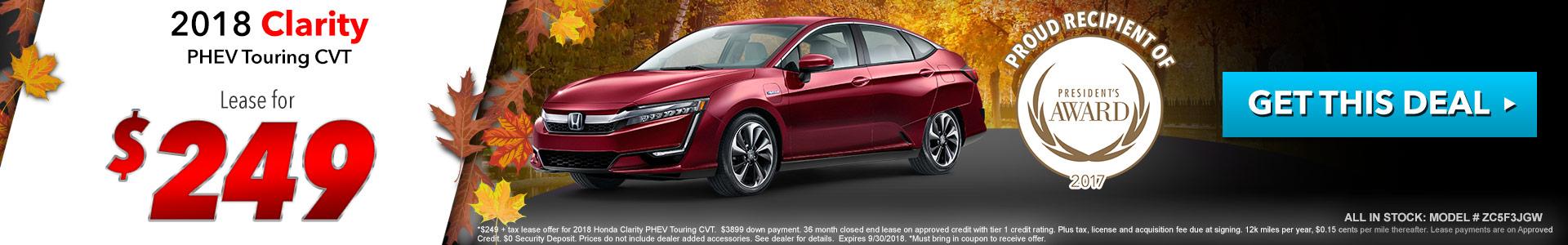 Honda Clarity $249 Lease