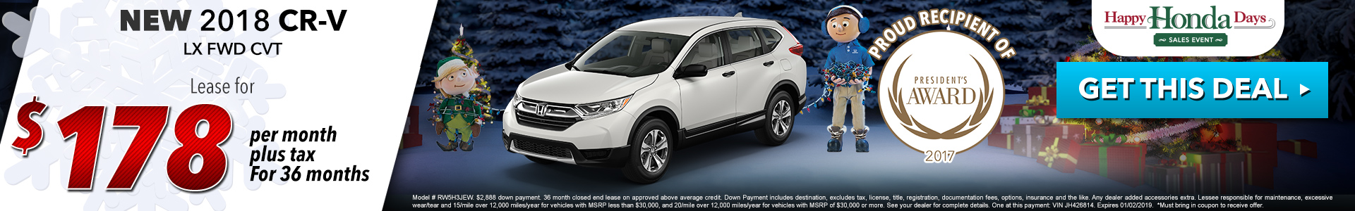 Honda CR-V $178 Lease
