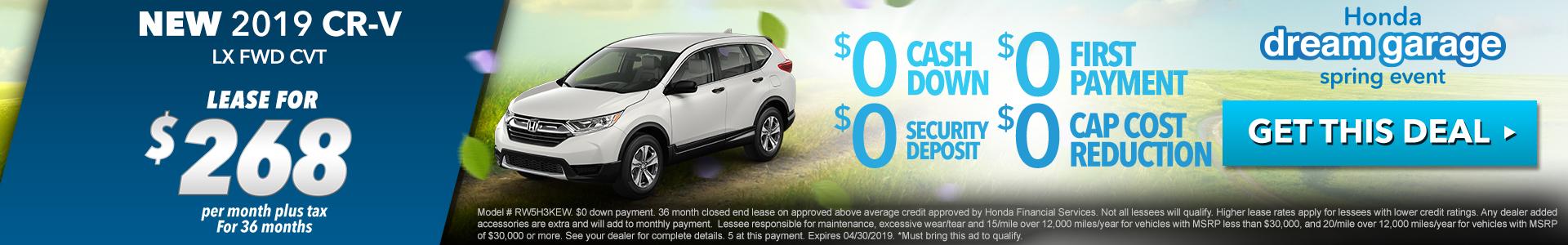 Honda CR-V $268 Lease