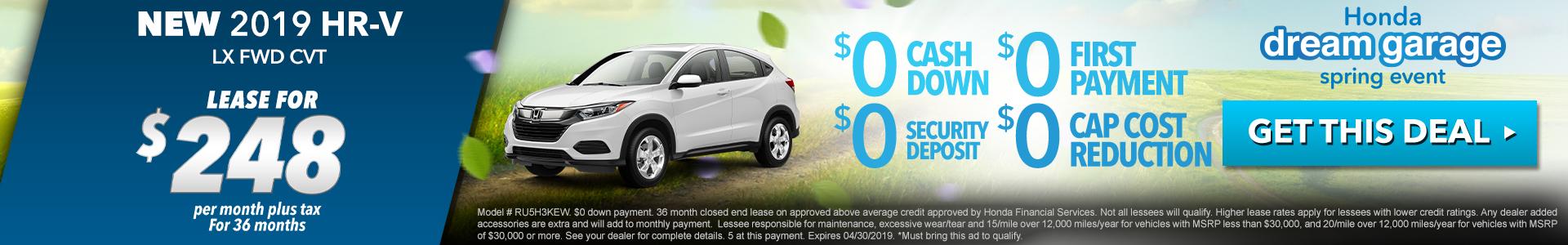 Honda HR-V $248 Lease