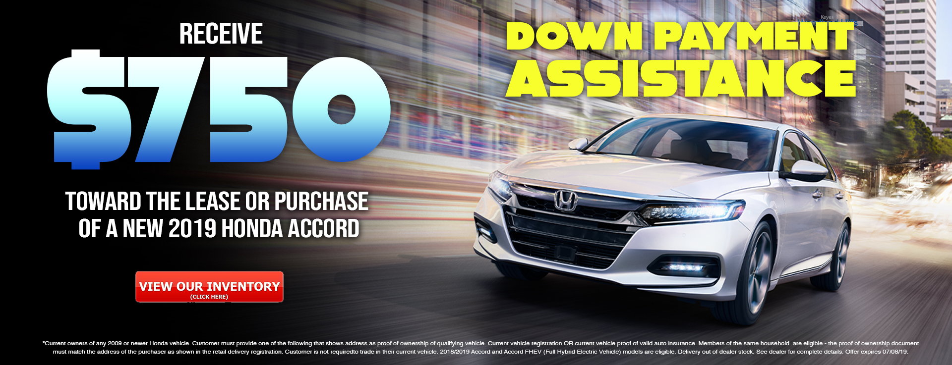 Honda Accord Down Payment Assistance