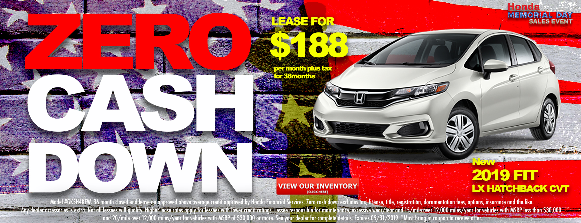 Honda Fit $188 Lease