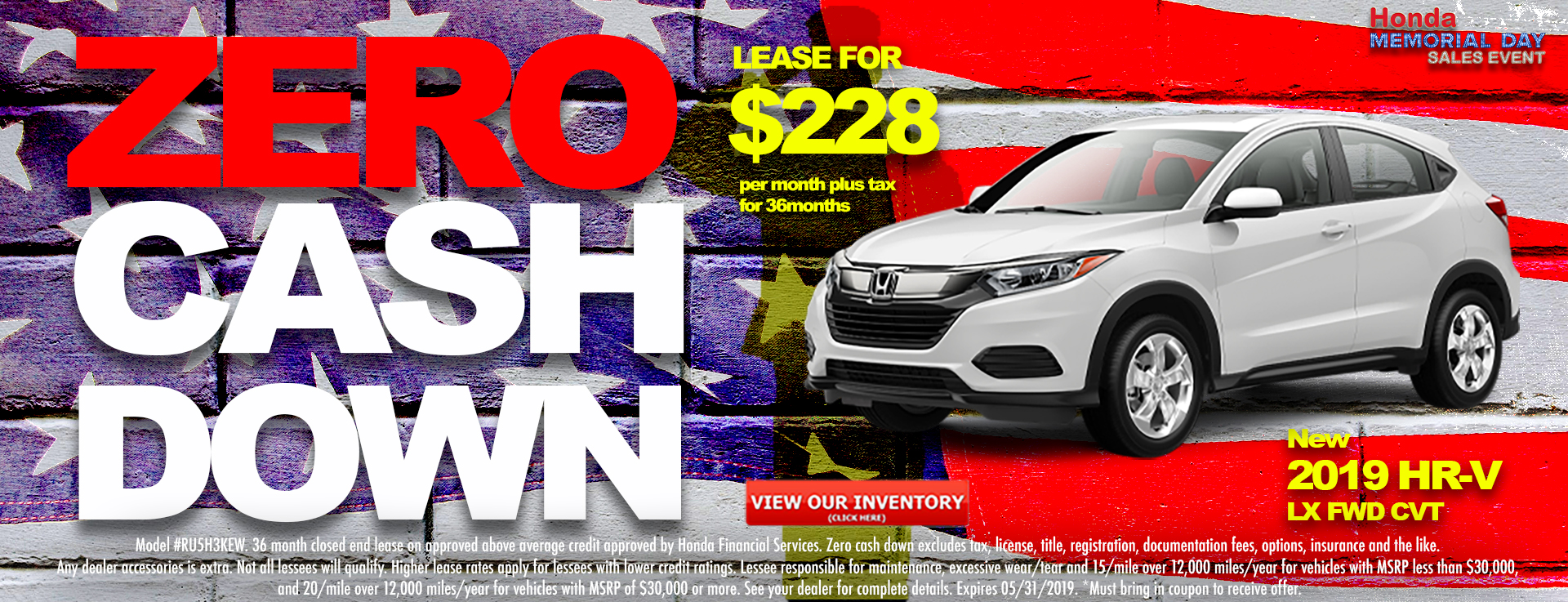 Honda HR-V $228 Lease