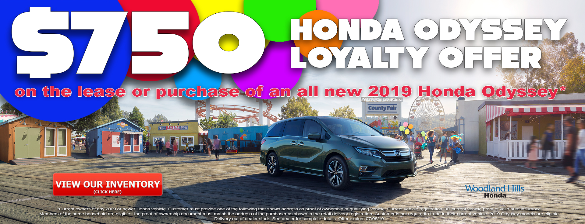 Honda Odyssey Loyalty Offer