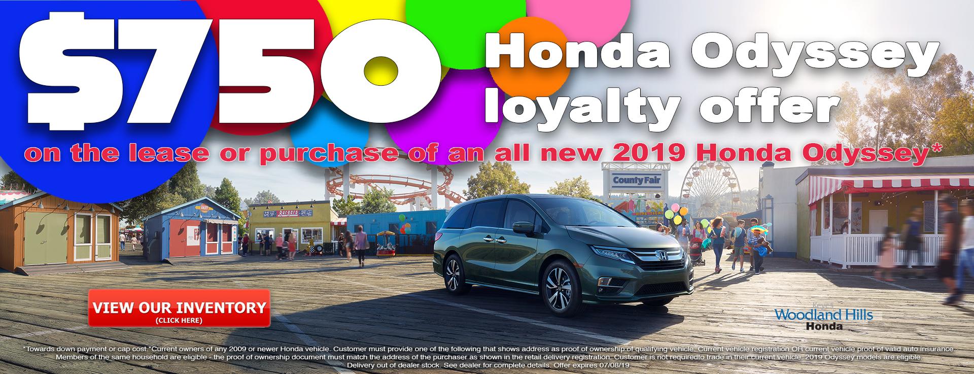 Honda Odyssey Loyalty Offer