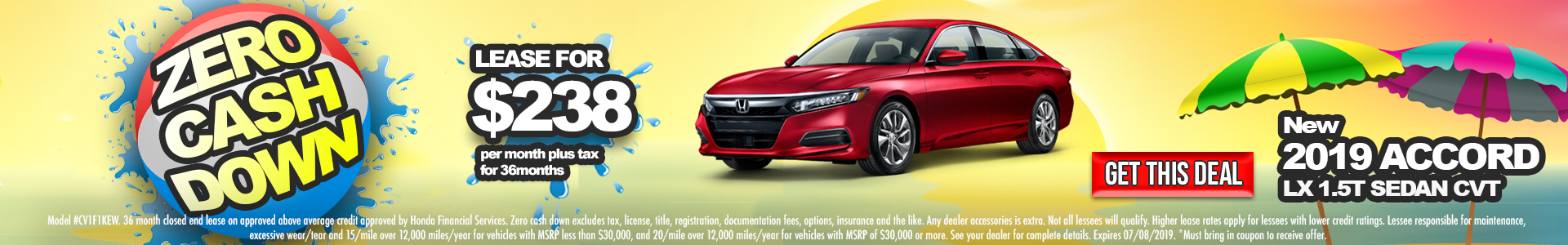 Honda Accord $238 Lease