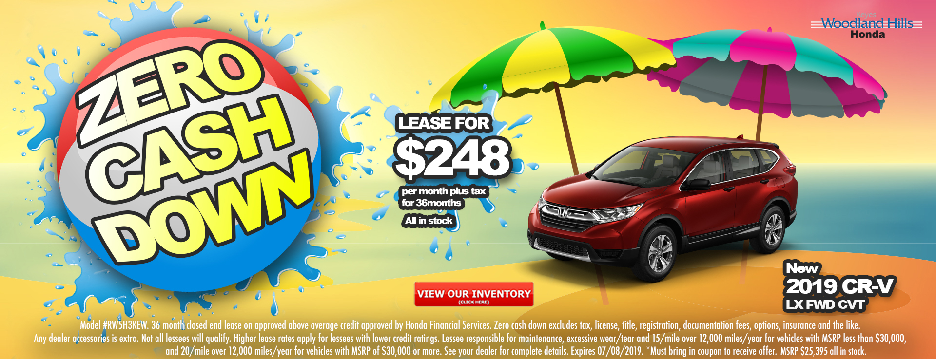 Honda CR-V $248 Lease