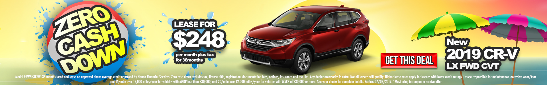 Honda CR-V $248 Lease