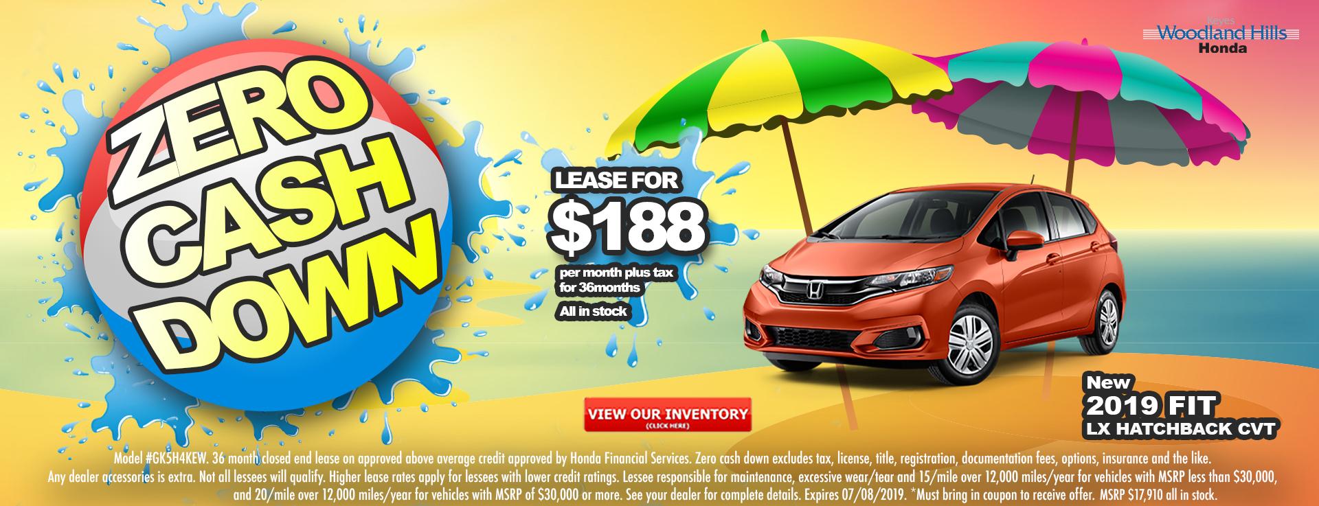Honda Fit $188 Lease
