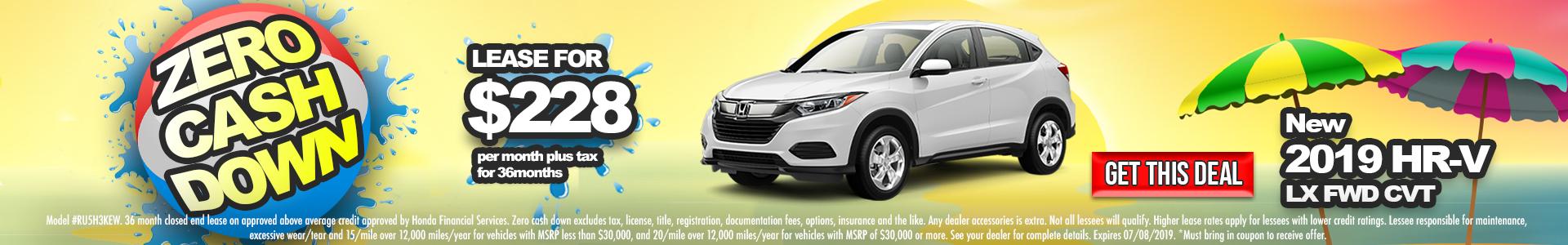 Honda HR-V $228 Lease