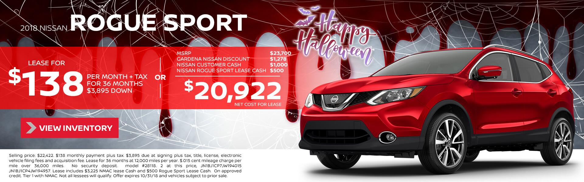 2018 Nissan Rogue Sport $18,998