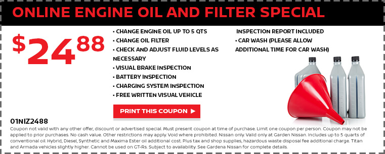 Online Engine Oil and Filter Special