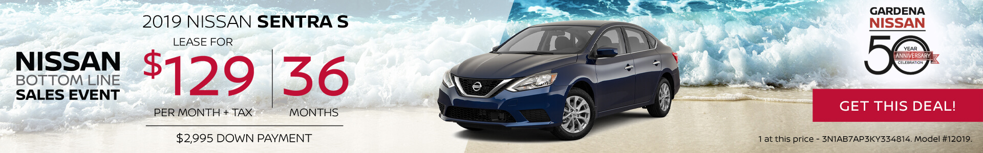 Sentra - Lease for $129