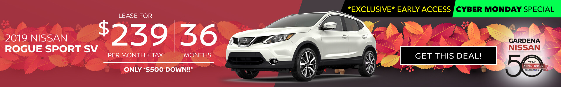 Rogue Sport - $249 Lease